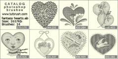 fantasy hearts - photoshop brush preview