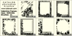 photo frame for Valentine - photoshop brush preview