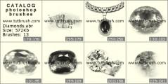 Украшения из бриллиантов - превью кисти фотошоп