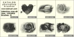 роза на 14 лютого - прев`ю кисті фотошоп
