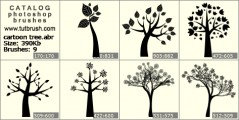 cartoon tree - photoshop brush preview