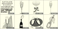 Champagne - photoshop brush preview