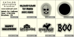 labels for Halloween - photoshop brush preview