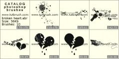 Разбитое сердце - превью кисти фотошоп