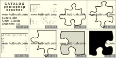 Puzzle - photoshop brush preview