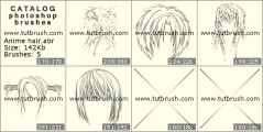 Anime hair - photoshop brush preview
