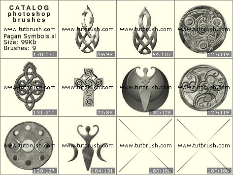 Photoshop brushes Pagan Symbols