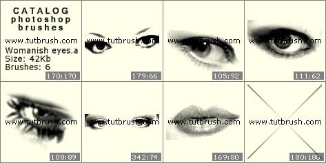 Кисти для фотошопа Женские глаза