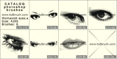 Womanish eyes - photoshop brush preview