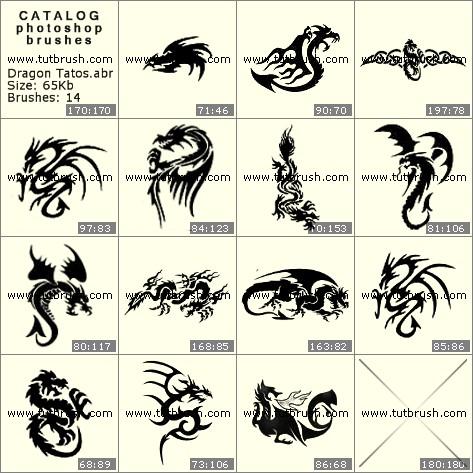 Кисти фотошоп Татуировки