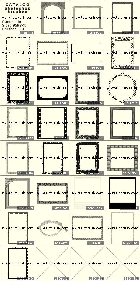 Кисти фотошоп рамки