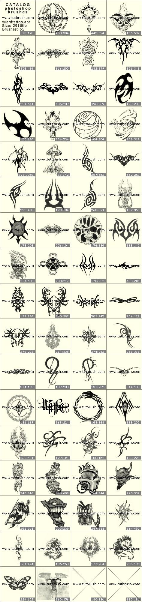 Кисти фотошоп Мистические татуировки