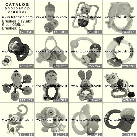 Кисти фотошоп Игрушки для малышей