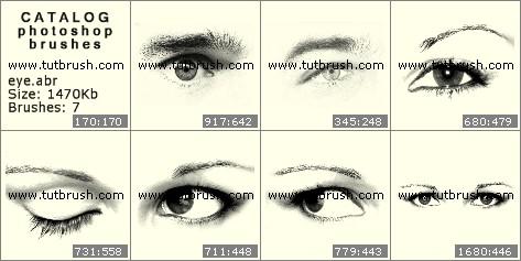Кисти фотошоп Глаз и глаза
