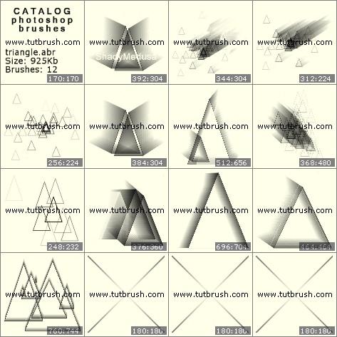 Кисти фотошоп 3D треугольники