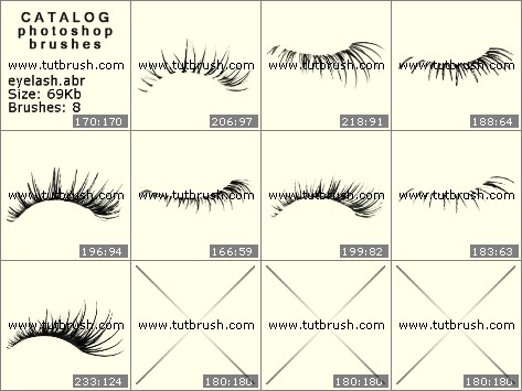 Photoshop brushes Long eyelashes
