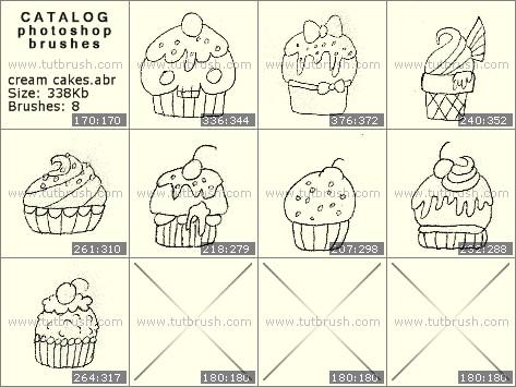 Кисти фотошоп кремовые кексы