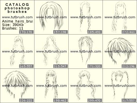 Кисти фотошоп Женские и мужские волосы