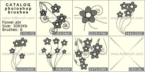 Кисти фотошоп нарисованные цветочки