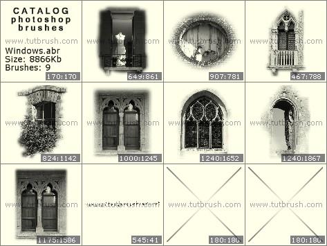 Кисти фотошоп старинные окна
