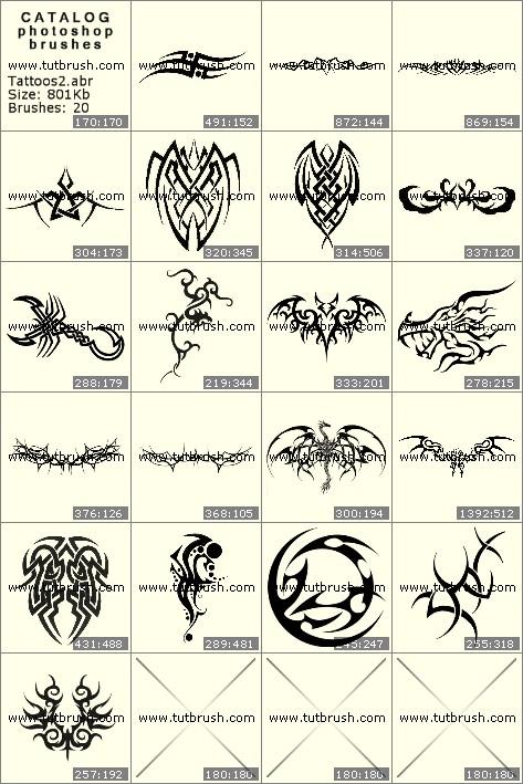 Кисти фотошоп Родовые татуировки