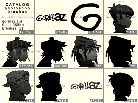 Кисти фотошоп Gorillaz