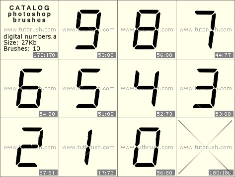 Кисти фотошоп цифровые числа