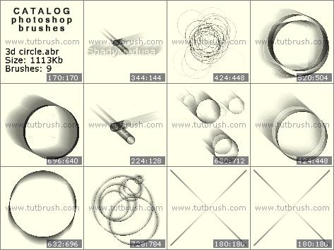 Кисти фотошоп 3D круг