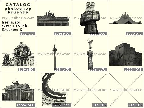 Кисти фотошоп Сооружения Берлина