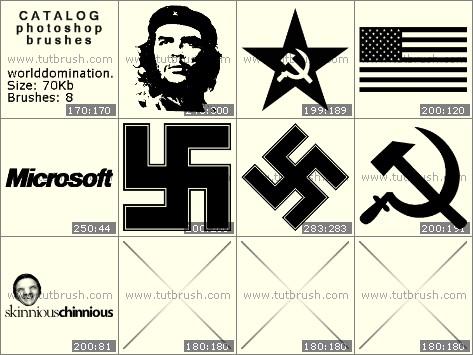 Кисти фотошоп Партийные эмблемы