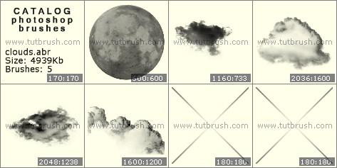 Кисти фотошоп Облака и небо