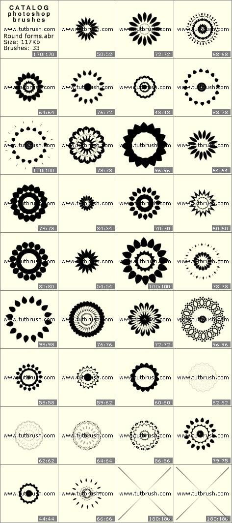 Кисти фотошоп Круглые формы