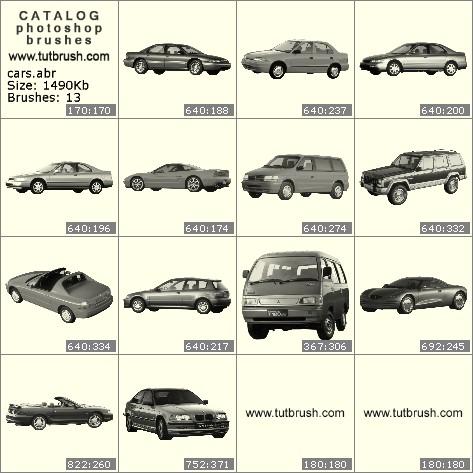 Photoshop brushes Passenger cars