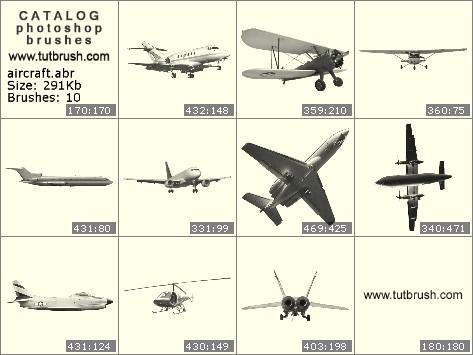 Кисти фотошоп Макеты самолетов