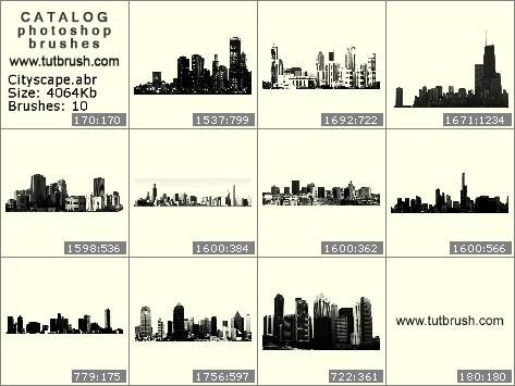 Кисти фотошоп Крупные города