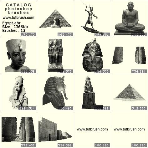 Кисти фотошоп Египет