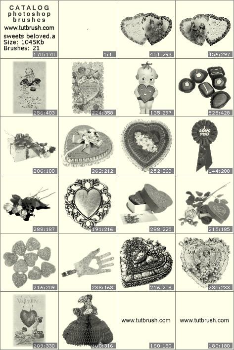 Кисти фотошоп Любимые конфеты