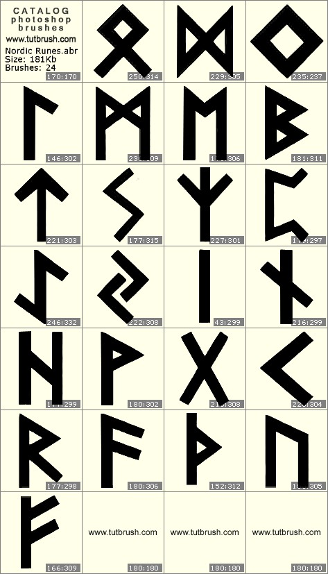 Photoshop Brushes Nordic Runes