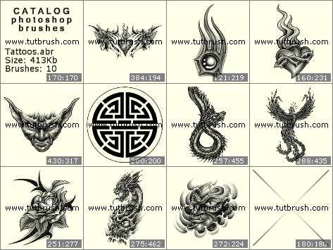 Photoshop brushes Mystic tattoos