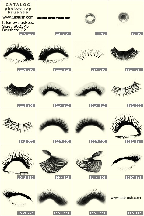 Photoshop brushes false eyelashes