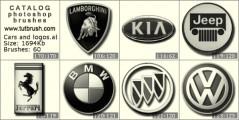 Car logo: KIA, Jeep, BMW, VOLVO