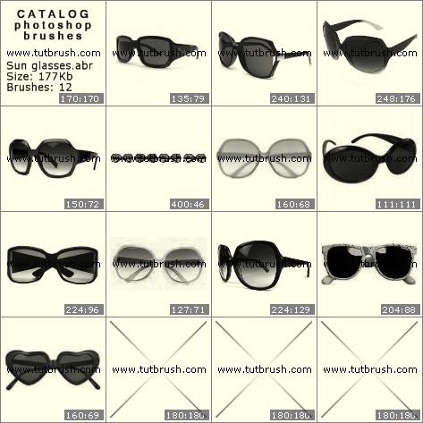 Кисти фотошоп Солнечные очки