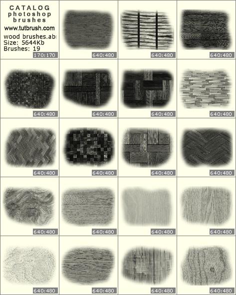 Кисти фотошоп Текстура дерева