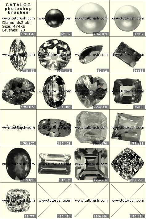 Кисти фотошоп Драгоценные камни - алмазы 2