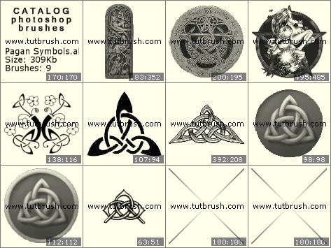 Кисти фотошоп Языческие символы