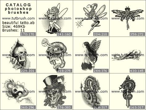 Кисти фотошоп Фантастические татуировки